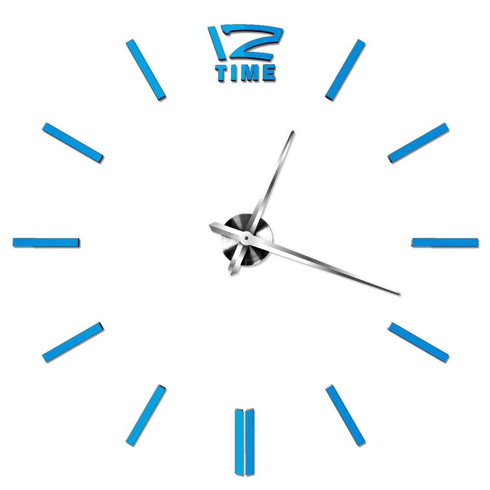 Large Creative Digital Wall Clock On Wall Home Decor Circular Watch Modern Personality Art Blue Red Silver Gold Stainless(China (Mainland))