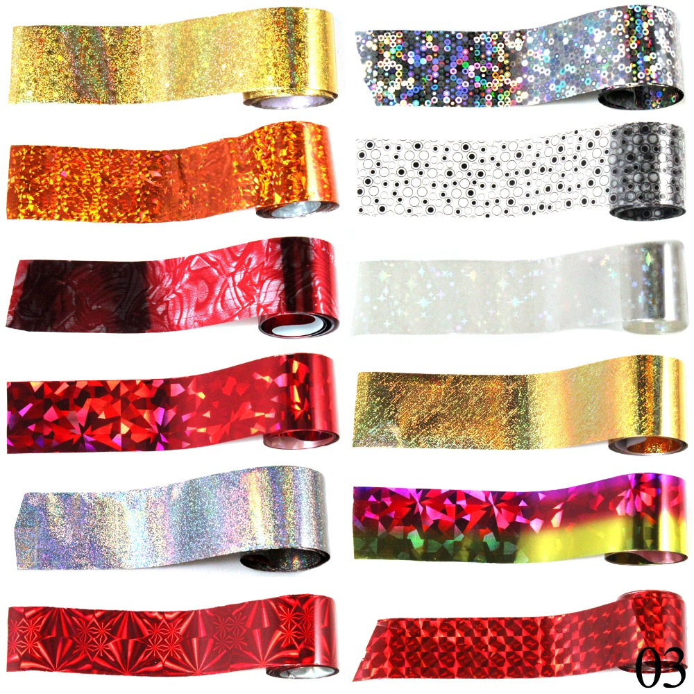 Candy Lover 12 Roll Fashion Designed Nail Art Transfer Foil Paper Nail Sticker Tip Decoration(China (Mainland))