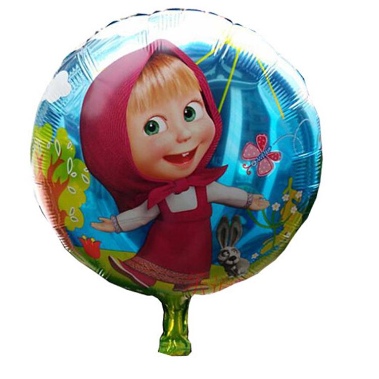 10pcs set 18 39 39 45 45cm masha and bear helium balloons kids. Black Bedroom Furniture Sets. Home Design Ideas