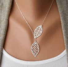 Wholesale  New Fashion Vintage Big Leaf Pendant Necklace Clavicle Chain For Women women fashion necklace Wedding Event Jewelry(China (Mainland))