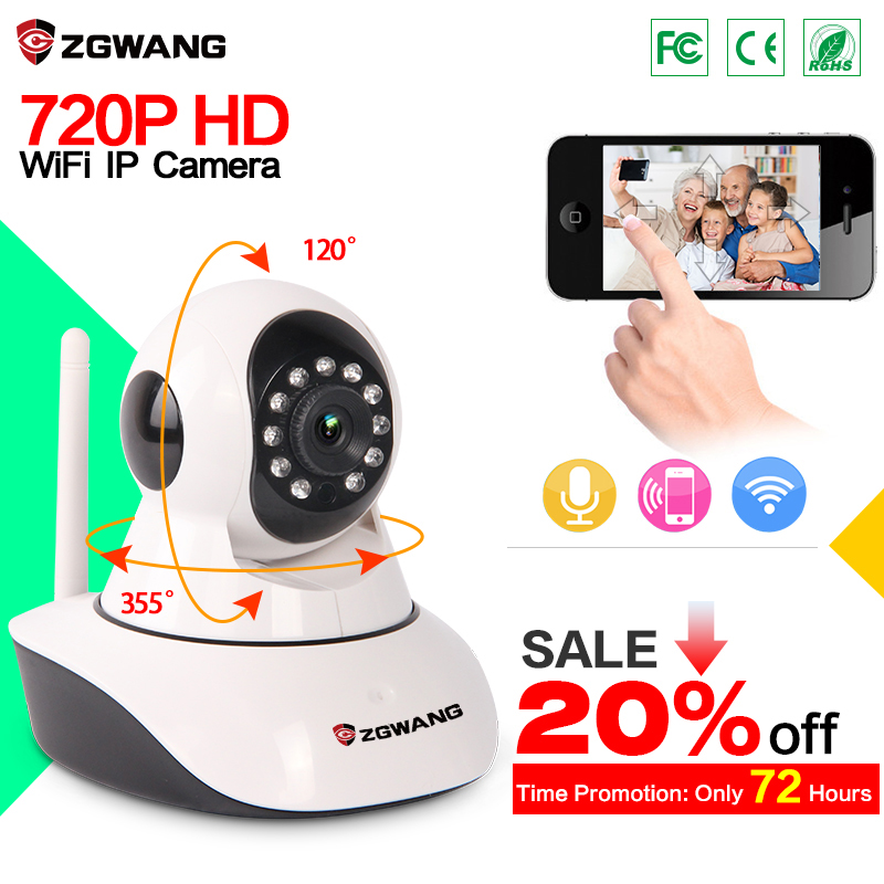 ZGWANG X6 Wireless IP Camera 720P Network Camera CCTV Onvif P2P WiFi IP Camera Night Vision Security Camera with IR-Cut IP(China (Mainland))