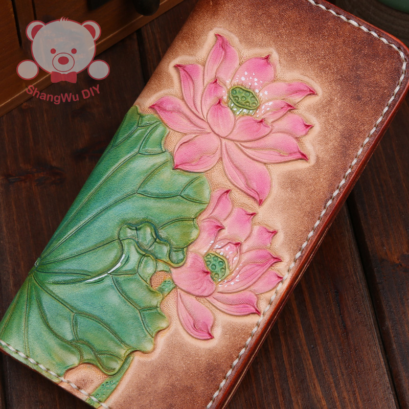 Sculpture DIY leather wallets for women purses for women(China (Mainland))