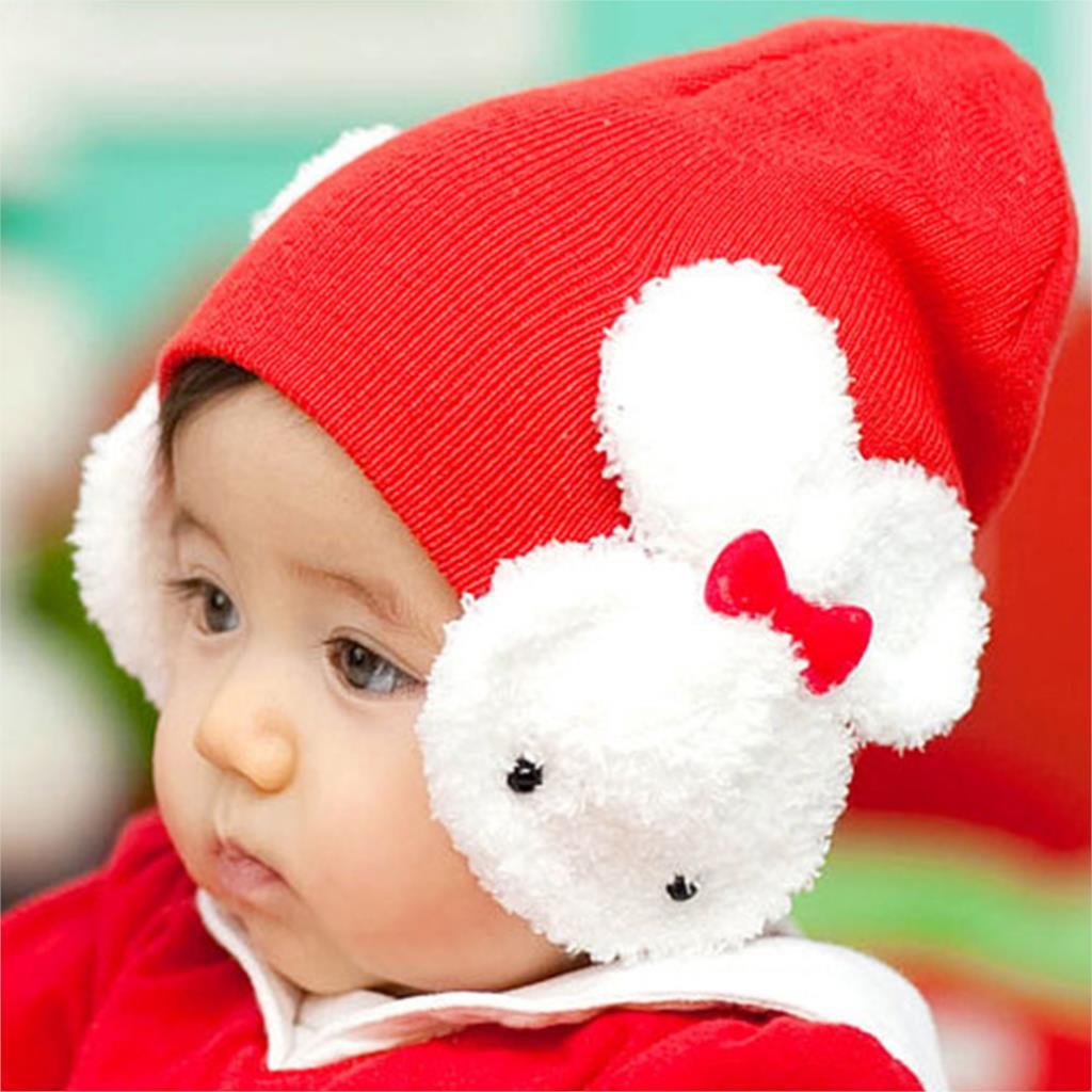 Гаджет  Children Girl Baby Beanie Hat Double Rabbit For Child Keep Ear Warm Winter Kids Boy Cute Cap None Детские товары