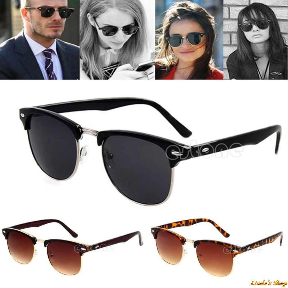 Fashion Retro Vintage Womens Mens Designer Oversized Sunglasses Glasses Hot PY Free Shipping