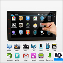 7'' Capacitive Touch Screen 2 DIN Pure Android Car PC Stereo In dash Bluetooth Car Radio Audio Video No-DVD Player iPod+Camera(China (Mainland))