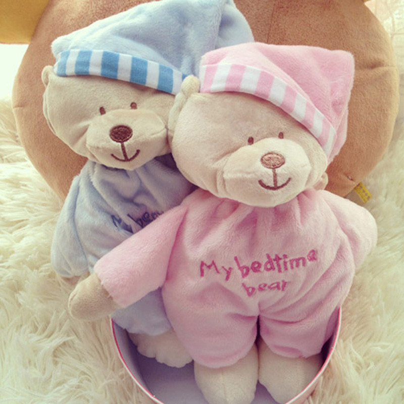 MXM 007 Animal Bear Baby Plush Bear Toy Soft Gift For Baby Child Newborn Product Boy Girl For Children Pink and Blue(China (Mainland))