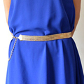 Fashion women s thin belt fashion cutout gold metal belly chain one piece dress decoration free