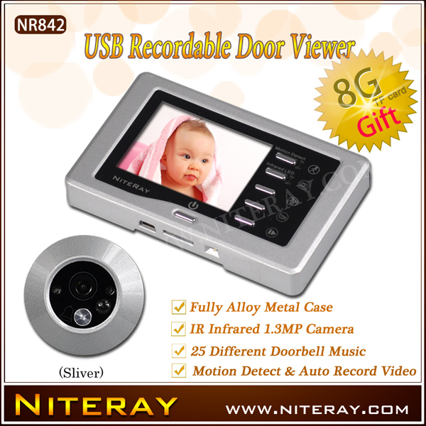 "New Door Fish Eye Camera With 3.0"" TFT LCD Screen Digital Door Peephole Viewer Motion Detect Peephole(China (Mainland))"