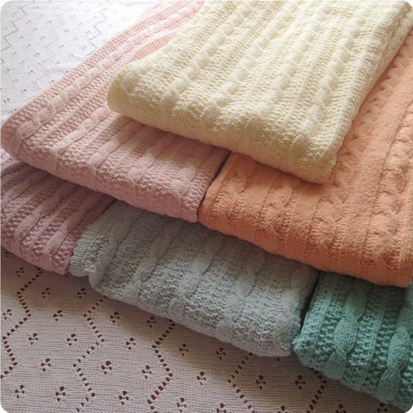 Soft European style soild knitting blanket throw blanket sofa knitted blanket baby caron cable knitted blanket cover home(China (Mainland))