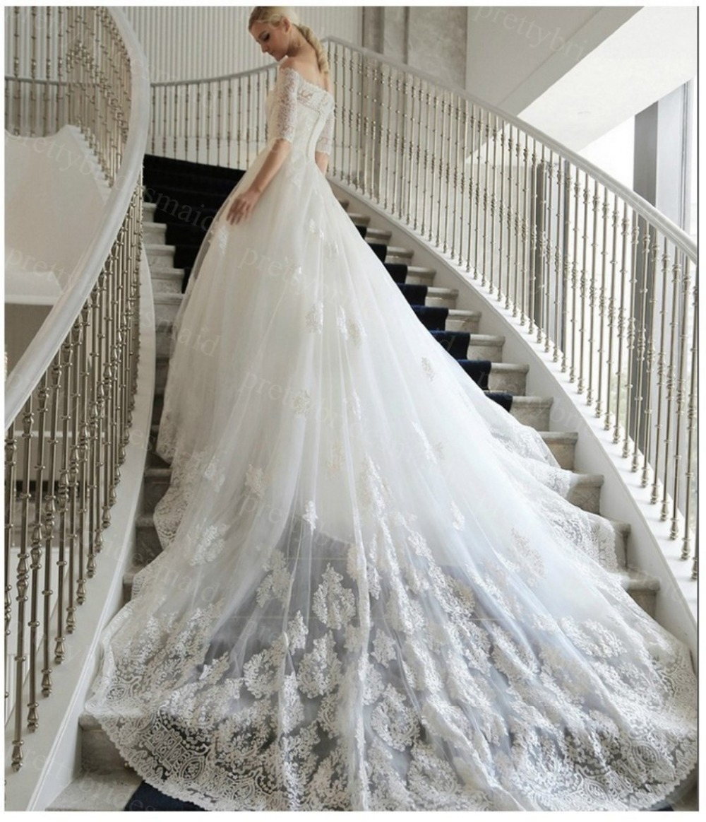 Buy robe de mariage 2015 fashionable for Wedding dress appliques suppliers