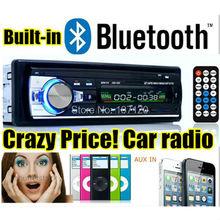 2015 новый автомобиль аудио bluetooth авто стерео bluetooth mp3-плеер поддержка телефон AUX-IN MP3 FM USB 1 дин дистанционного управления в тире 12 В 520