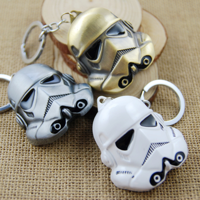 Star Wars Super Heroes Helmet DIY Keychain Darth Vader Stormtrooper Key Chain Action Figures Gifts Collectable 1 SD502 - LS_Crystal Supermarket store
