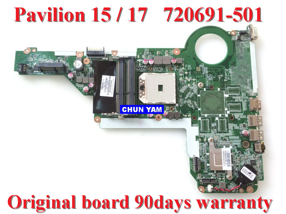 NEW laptop motherboard 720691-501 for HP Pavilion 15-E 17-E 15 17 720691-001 Notebook system board 100% tested 90 Days Warranty(China (Mainland))