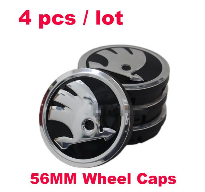 56 мм колеса автомобиля эмблема авто центра колеса логотип этикетки для Skoda Octavia / превосходные / Fabia / Roomster / йети