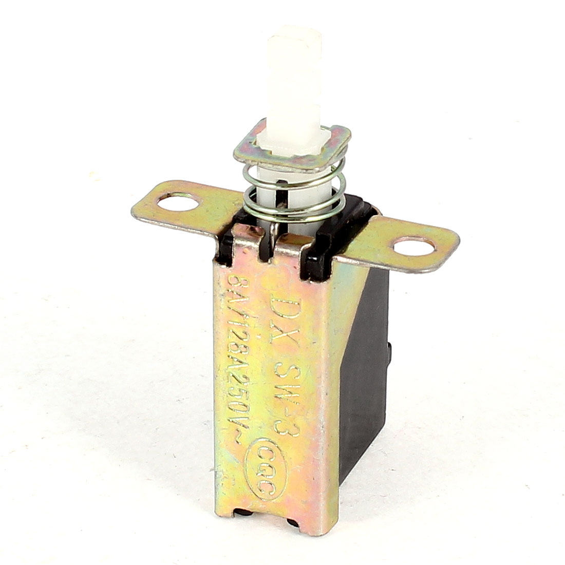 AC 250V 8A 128A Single Pole Single Throw Push Button Power Switch<br><br>Aliexpress