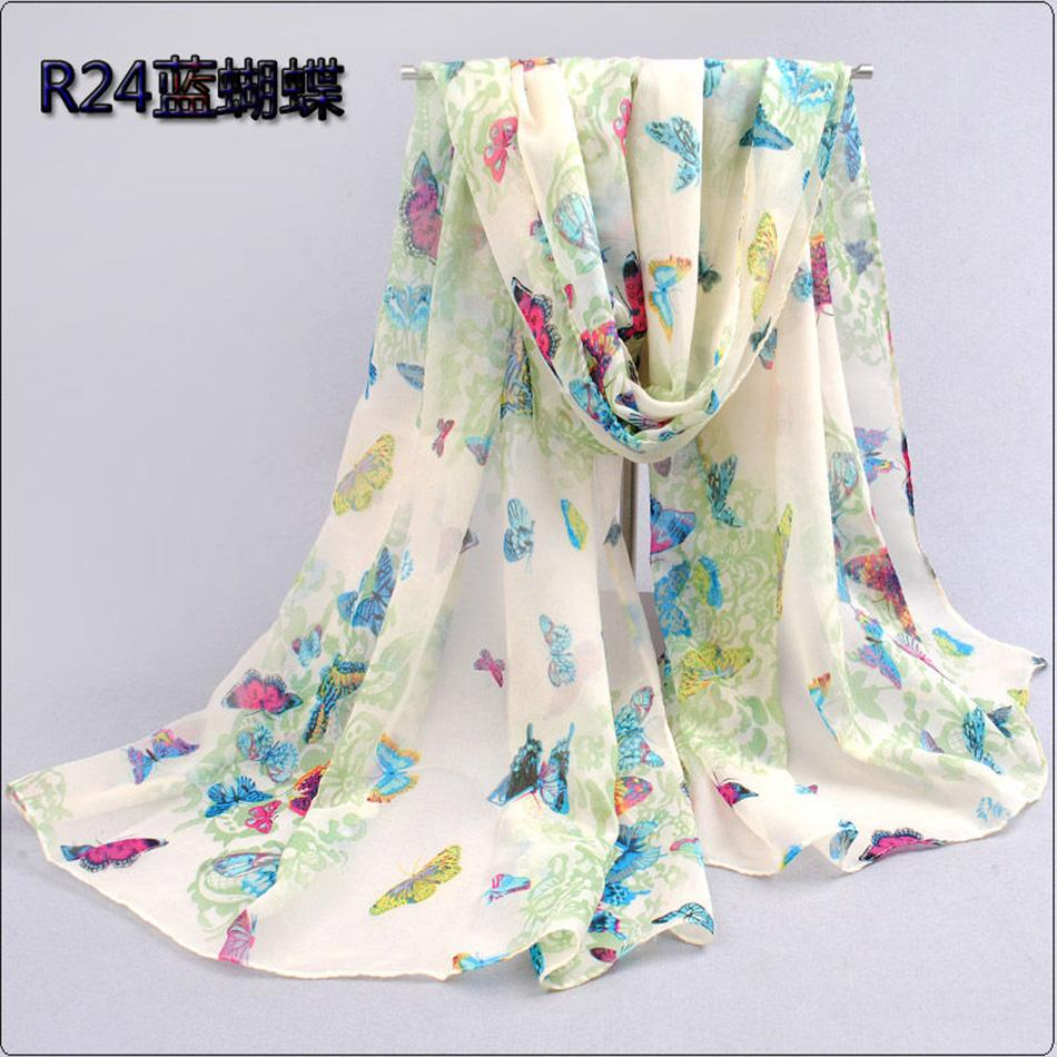 wholesale Design Fancy Hijab Scarves Butterfly Scarfs Brand Shawl Scarf Wrap Long Chiffon Velvet Silk Muffler Womens Capes Lady(China (Mainland))