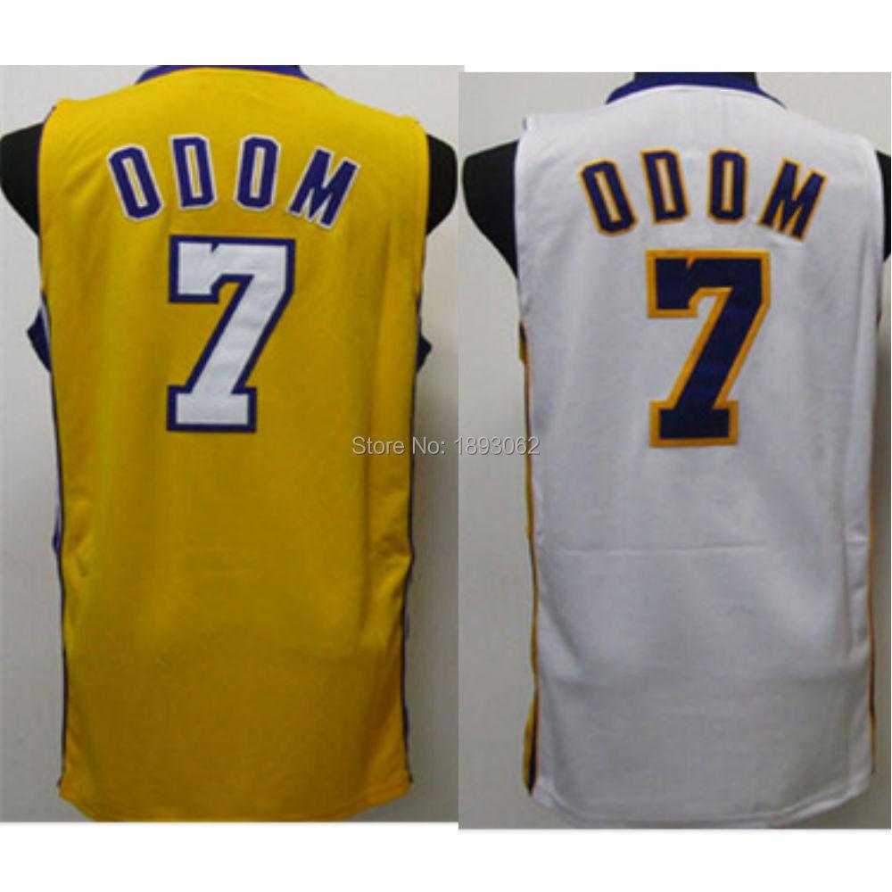 Cheap Basketball Jersey Lamar Joseph Odom #7 Yellow Throwback Classic Retro Sports Custom Jerseys - Star Fans Store store