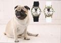 Pug Pet Love Dog Men Women Watches Sport Casual Black White Silicone Band Unisex Quartz Wrist