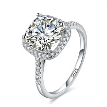 AAA CZ diamond fine jewelry Wedding Engagement rings for women white gold plated jewelry big stone ring Accessories bijoux bb035