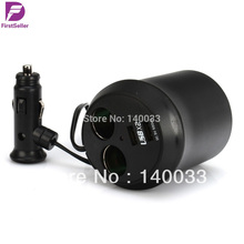 Free Shipping Universal Micro Car Auto Dual USB Charger Socket Cup Holder Adapter For Iphone 4/4s ipod PDA MP3(China (Mainland))