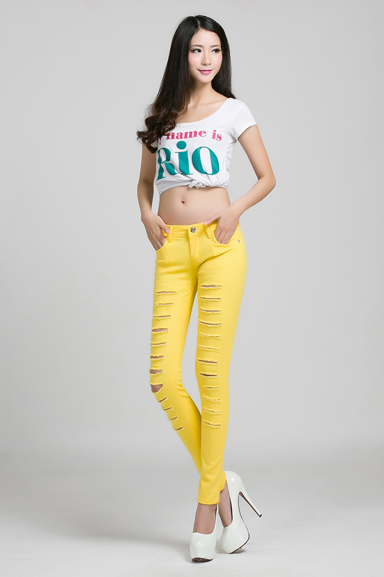 Yellow Womens Jeans - Jeans Am