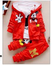 3 Pcs Children Long Sleeve T Shirt Pants Suits(China (Mainland))
