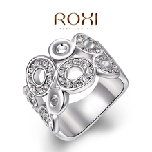ROXI Christmas Gift Classic Luxury Rings Top Quality Genuine SWR crystal romantic hand made fashion jewelry
