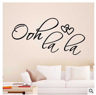 2015 Free shipping high quality new OOH LA LA ZY8418 export wall stickers car stickers wholesale manufacturers custom removable(China (Mainland))