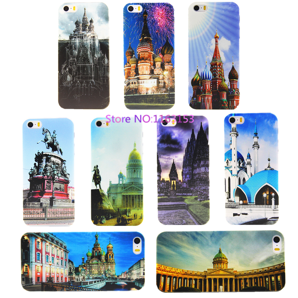 Car Covers New Famous Russian Landscape Pictures Pc Phone Cases For Iphone 4 4s 5 5s Case To Protect The Back Cover Scratches(China (Mainland))