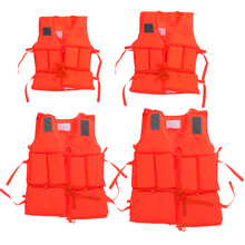 Durable Kid To Adult Plus Size Polyester Life Jacket Universal Swimming Drifting Boating Ski Surfing Vest With Whistle FE5#