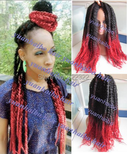 New ombre Cinnamon red marley braid hair 100% kanekalon