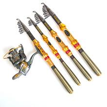 99% Carbon Portable Fiber Telescopic Fishing Rod Spinning Pole Hand Fishing Tackle Sea Rod Ocean Rod 1.8M 2.1M 2.4M 2.7M 3.0M(China (Mainland))