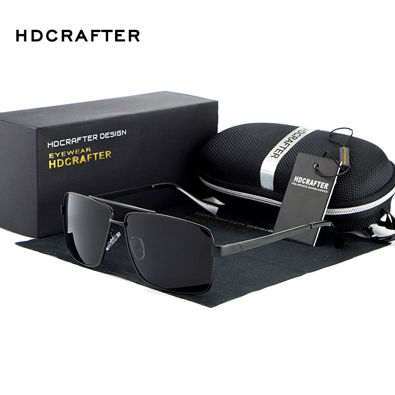 inexpensive sunglasses 6a4a  2017 HDCRAFTER Fashion Men's UV400 Polarized coating Sunglasses men Driving  Mirrors oculos Eyewear Sun Glasses for Man with Box