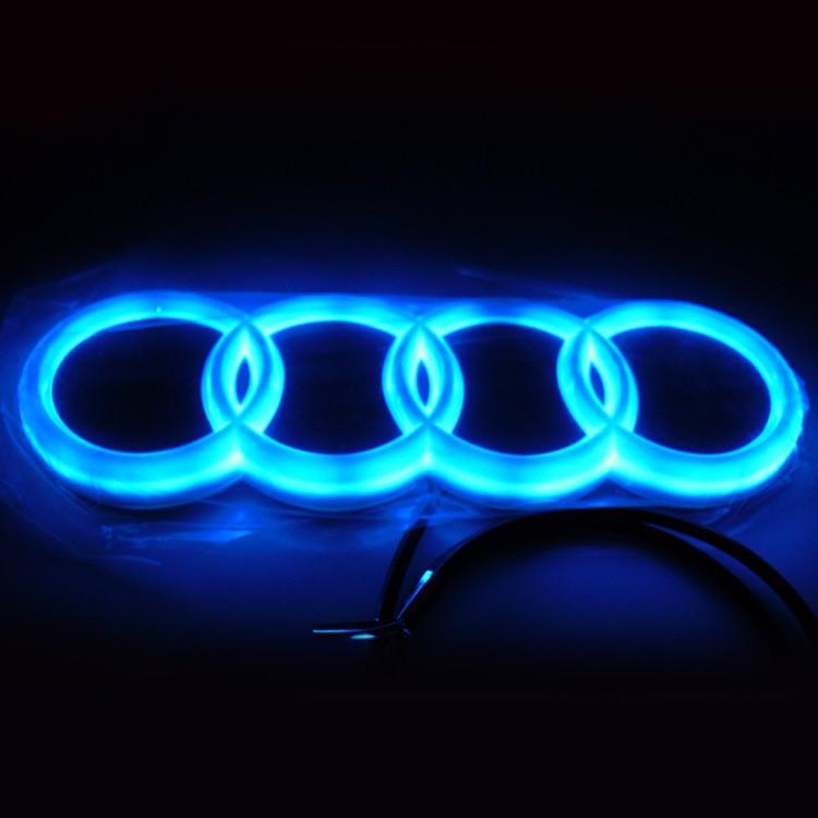 Водонепроницаемая автомобильная 4d логотип света знак el эмблема холодные огни стикер лампа 18 см * 5,8 см аксессуар авто