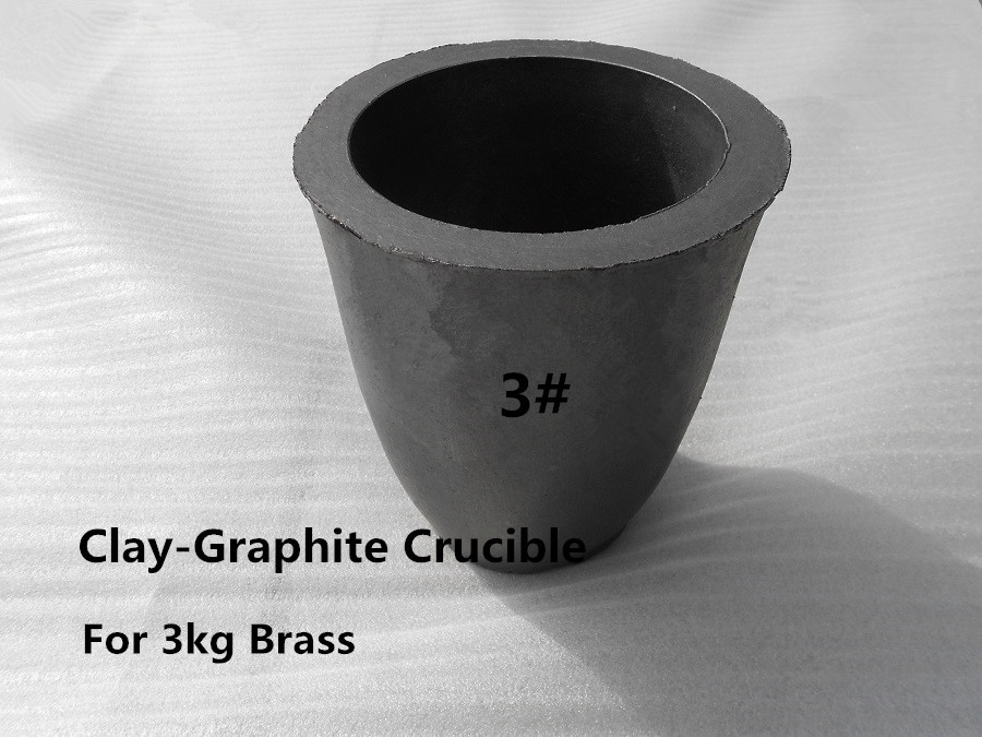 A3# Clay-Graphite Crucible for 3kg brass casting /Bronze melting  crucible /high temperature melting pot <br><br>Aliexpress