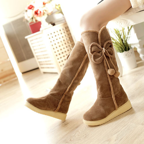 Autumn and winter snow boots Tall boots snow boots warm women's boots over the knee and calf