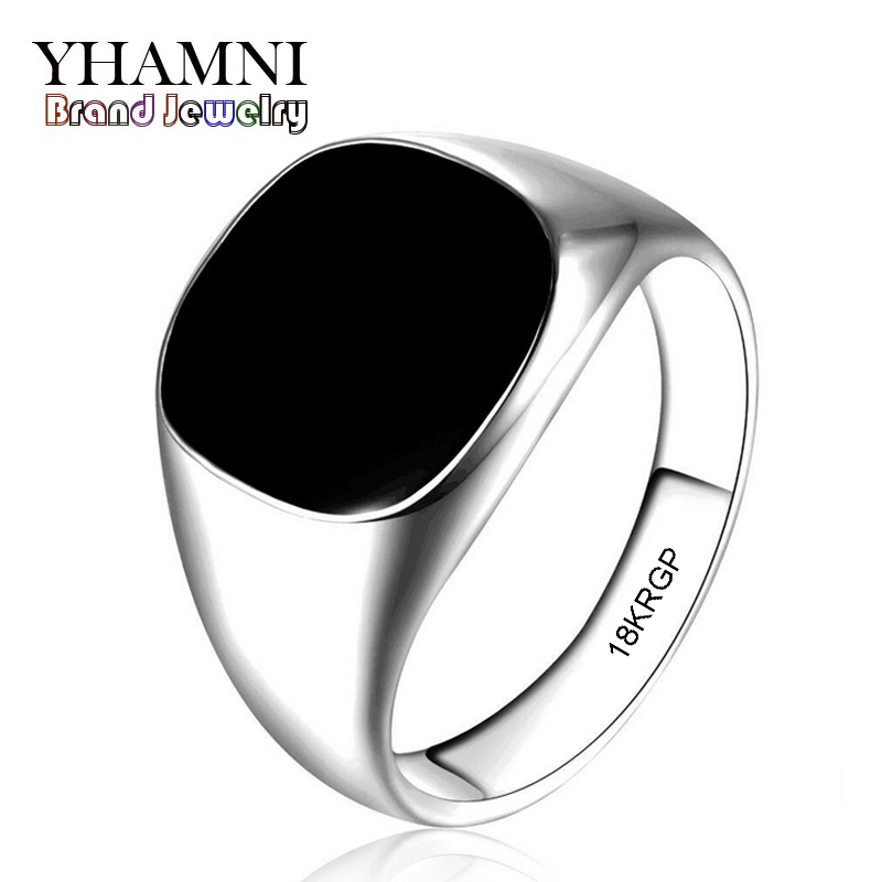 2017 Latest Fashion Never Fade 316l Stainless Steel Ring Gold Plated Black Onyx Stone CZ Engagement Wedding Ring BKJZ016(China (Mainland))
