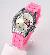 pink silicone watch promotion