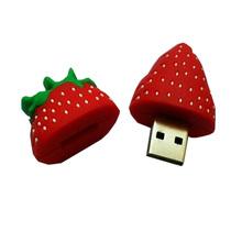 Cute Cartoon Strawberry USB Flash Drive Pen Drive 4GB 8GB 16GB 32GB 64GB Pendrive Flash U