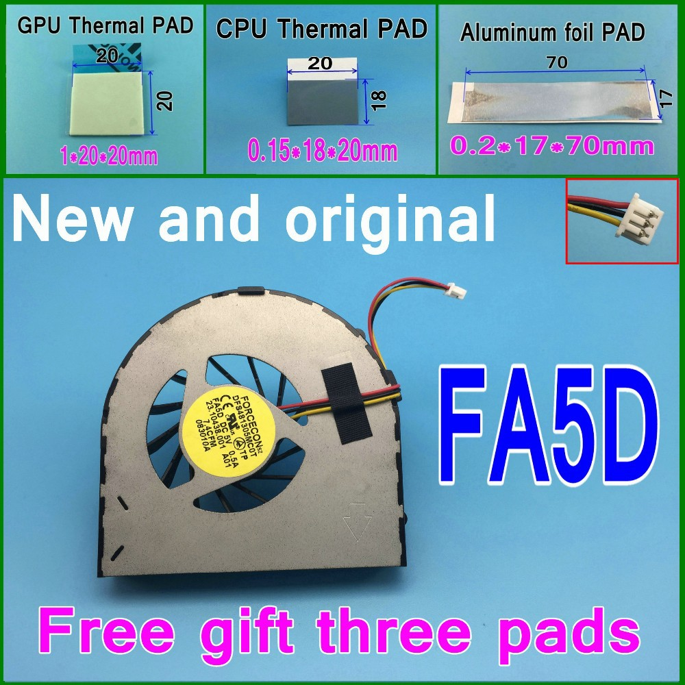 Gifts 15 thermal pads DFS481305MC0T FA5D 23.10438.001 F91G Cooling Fan For Dell Inspiron 15R M5010 M501R N5010 cooler fan<br><br>Aliexpress
