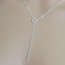 Romantic woman hot fashion accessory gold plated metal chain necklace bar circle lasso long strip pendant