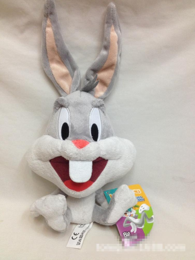 2014 30CM New Arrival Looney Cute Rabbit Bugs Bunny Tunes Plush Stuffed Toys Free Shipping T092(China (Mainland))