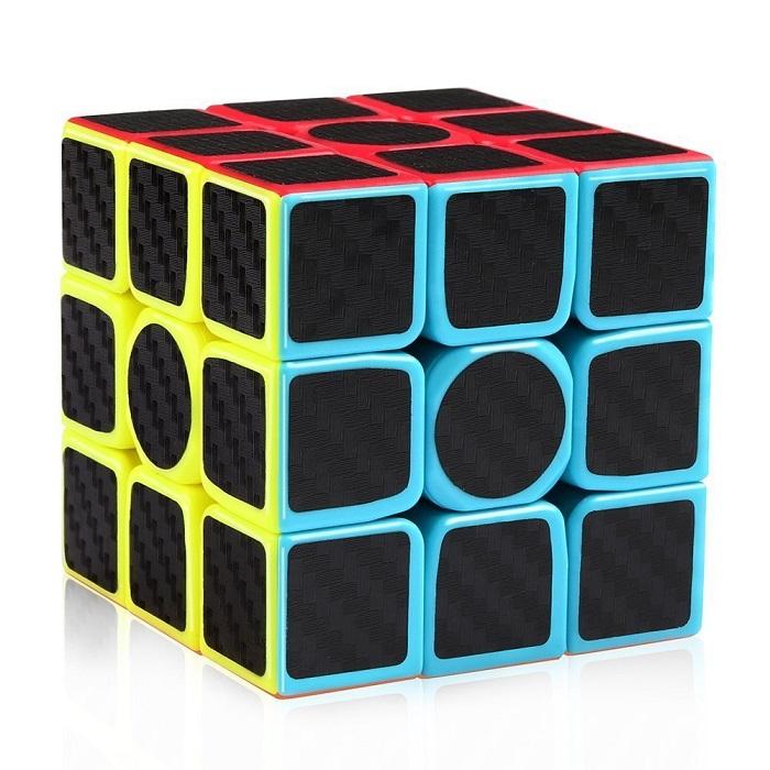 2017 New Carbon Fiber Sticker Speed 3x3x3 Magic Cube Fidget Cube Magico Educational Brain Teaser Toys For Children Adult(China (Mainland))