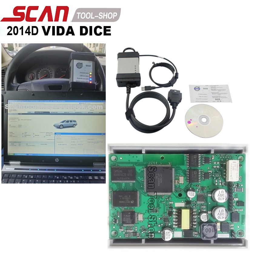 2014D Full Chip For Volvo Vida Dice Diagnostic Tool Vida Dice Pro With EWD Software As Free Gift Professional Scanner(China (Mainland))