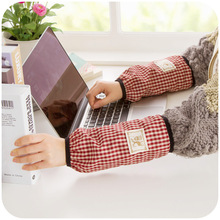 Japanese-style elegance Bouguer grain stain stick cuff, home office washable winter long section of female sleeves K4311(China (Mainland))
