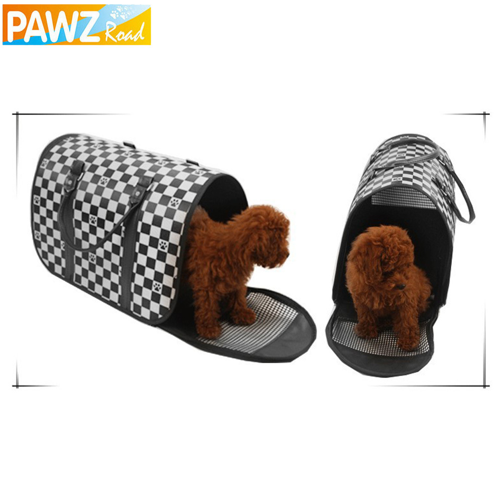 New Pet Dog Carrier Durable Pet Bag Folding Carrier Cage Dog Bag Tote Bag Free Shipping(China (Mainland))