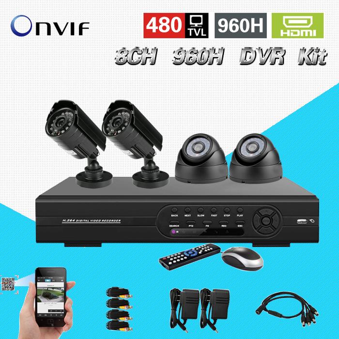 Free shipping home video surveillance camera video system cctv 8ch 960h DVR NVR system 1080p hdmi dvr kit for ip camera CK-113<br><br>Aliexpress
