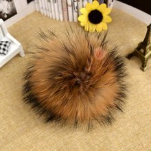 100% Real Raccoon Fur Ball 16/18/20cm genuine fur pompom for hat winter Skullies Beanies hat knited cap bag /key/clothes f227(China (Mainland))