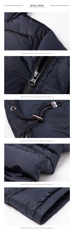 Скидки на Markless 2016 Мужчин Хлопка Пальто мужской Бренд Одежды С Меховой Моды С Капюшоном Парки Случайный Человек Одежда Зимняя Верхняя Одежда