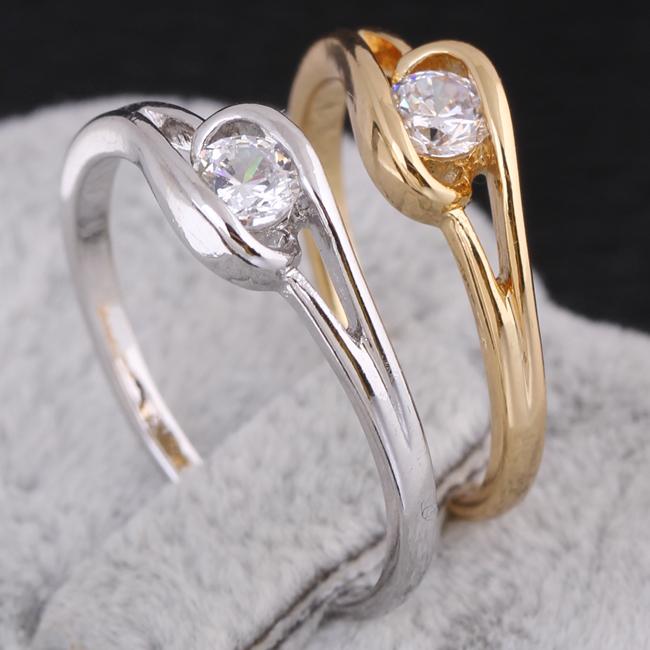 New Arrival fashion wedding tail ring wholesale pinky ring KUNIU J27025(China (Mainland))